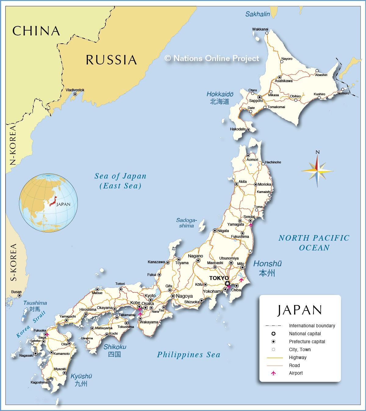 Mapa De Japon Ciudades.Mapa De Japon Ciudades Ciudades De Japon Mapa Asia